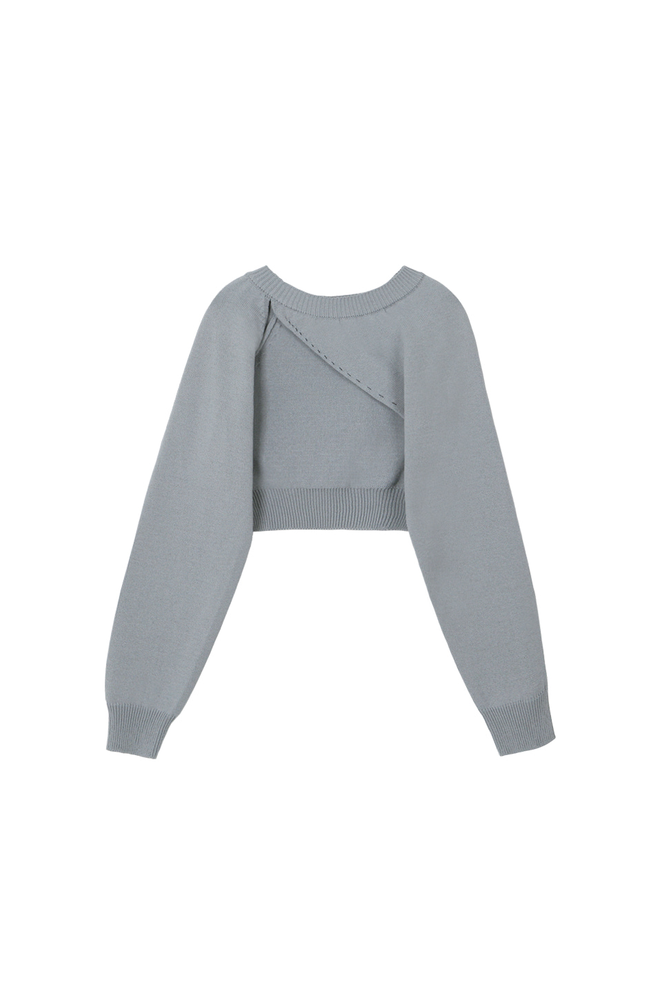 (3차재입고) SS UNBALANCE BOLERO KNIT TOP - GRAY
